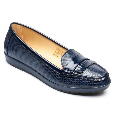 Freestep - Navy 'Sophia' loafer shoes