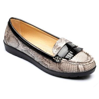 Freestep - Grey 'Sophia' loafer shoes