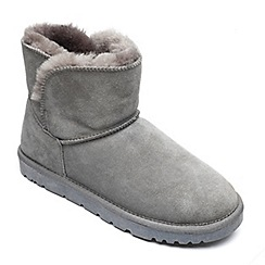Freestep - Ladies real sheepskin ankle boot in grey