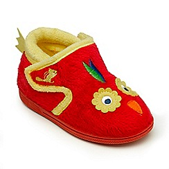 Chipmunks - Girls grey Polly the parrot slipper