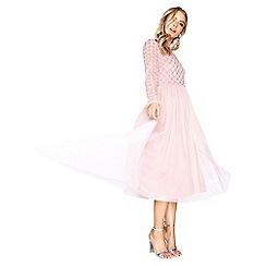 Little Mistress - Pink midi dress