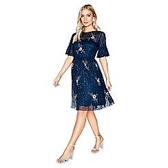 Little Mistress - Navy embellished dress