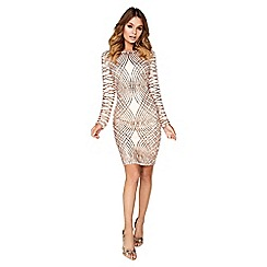 Girls On Film - Champagne sequin dress