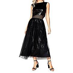 Little Mistress - Black sequin skirt