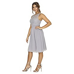 Little Mistress - Grey pearl prom dress