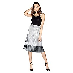 Girls On Film - Metallic pleated skirt