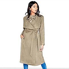 Girls On Film - Khaki suedette coat