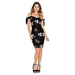 Girls On Film - Strappy embroidered dress
