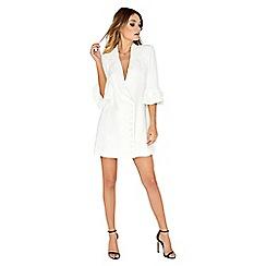Girls On Film - White wrap blazer dress