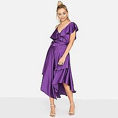 Girls On Film - Purple midnight hour asymmetric dress