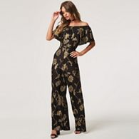 044d4345cc7 Girls On Film - Black wavelength black floral plisse jumpsuit