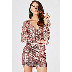 Girls On Film - Gold guild gold sequin bodycon dress