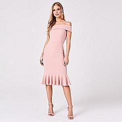 Girls On Film - Pink Verge Pink One-Shoulder Bodycon Dress