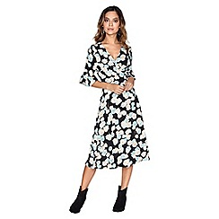 Girls On Film - Floral wrap dress