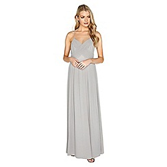 Girls On Film - Grey chiffon maxi dress