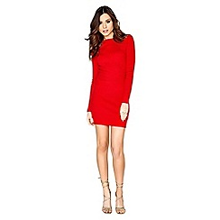 Girls On Film - Red knitted dress
