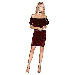 Girls On Film - Burgundy dress