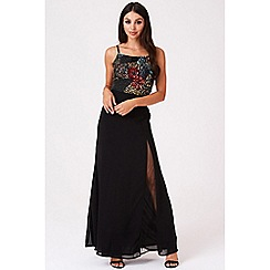Little Mistress - Black perla embellished cami maxi dress