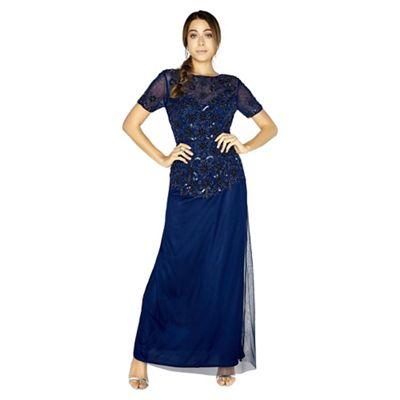 d51a926517c Little Mistress Sofia maxi prom dress with hand-embellishment ...