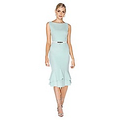 Paper Dolls - Mint peplum dress