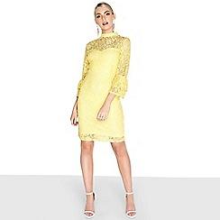 Paper Dolls - Lemon fluted dress