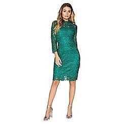 Paper Dolls - Jade green lace dress