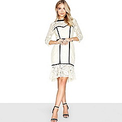 Paper Dolls - Cream peplum dress