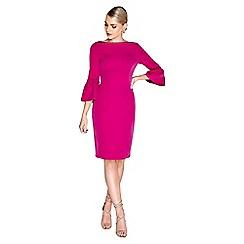 Paper Dolls - Pink fluted dress