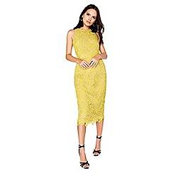 Little Mistress - Mustard lace dress