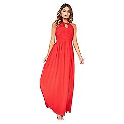 Little Mistress - Red chiffon maxi dress