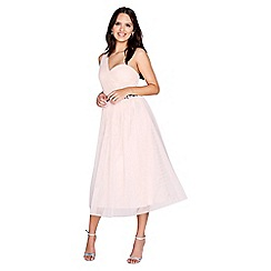 Little Mistress - Light pink mesh prom dress