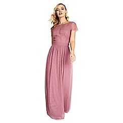 Little Mistress - Heidi lace overlay maxi dress
