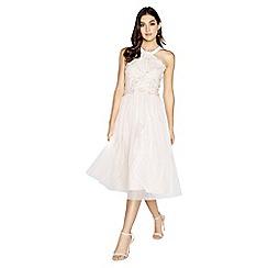 Little Mistress - Summer floral applique prom dress