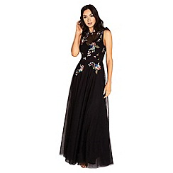 Little Mistress - Hallie sequin embroidery mesh maxi dress