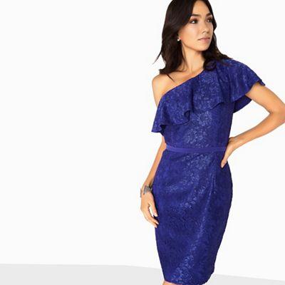 a126789b1 Little Mistress Maria one shoulder lace dress