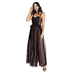 Little Mistress - Beatrice sweetheart maxi dress with contrast lining