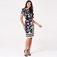 971c8239b80 Little Mistress - Multicoloured rossy floral stripe midi dress
