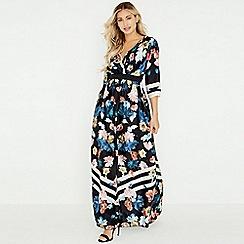 91a3ebe7178 Little Mistress - Multicoloured rossy floral stripe maxi dress