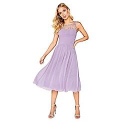 Little Mistress - Lilac midi dress