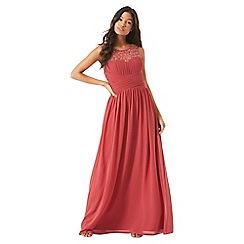 Little Mistress - Terracotta embellished maxi dress