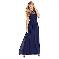 Little Mistress - Navy embellished maxi dress