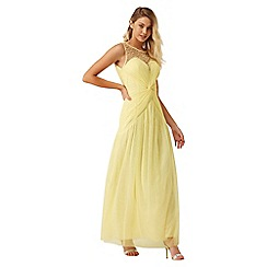 Little Mistress - Lemon knot waist maxi dress
