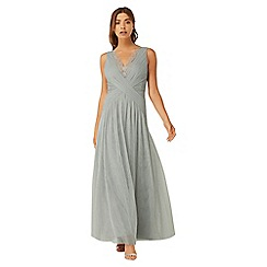 Little Mistress - Grey lace maxi with pleats