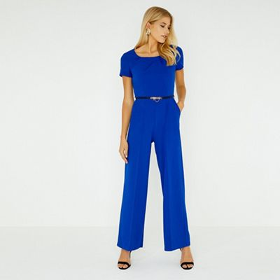 Paper Dolls   Blue Mabury Cobalt Pleated Jumpsuit by Paper Dolls