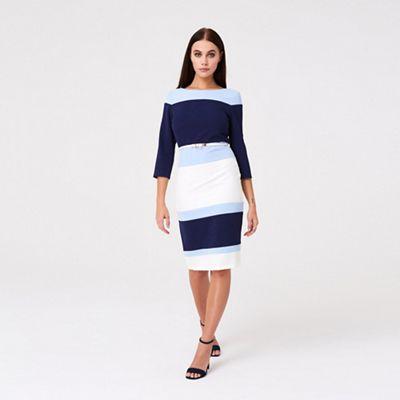 59bf1ea60eac Paper Dolls - Navy Blue Callow Colour Block Dress