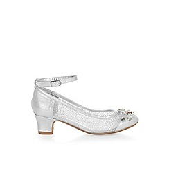 Monsoon - Girls' silver magical princess gem cha cha shoes