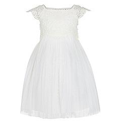 Monsoon - Baby girls' white estella dress