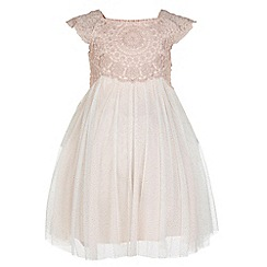 Monsoon - Baby girls' pink estella sparkle dress