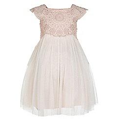 Monsoon - Baby girls' pink 'Estella' sparkle dress