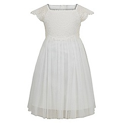 Monsoon - Baby girls' white 'Estella' sparkle dress